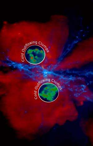 Galactic 'hailstorm' in the early universe