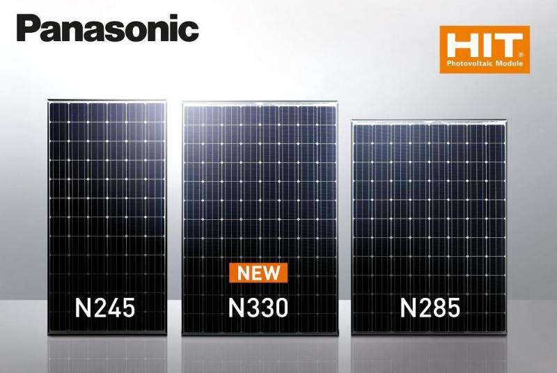 High efficiency rating shines on Panasonic solar panel