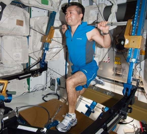 How do astronauts keep fit in space?