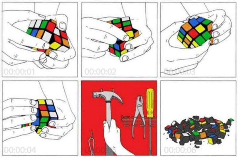 How to solve a Rubik's cube in five seconds