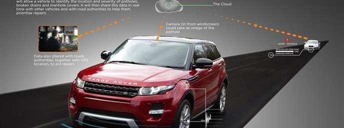 Jaguar Land Rover explores placing drivers on pothole alert