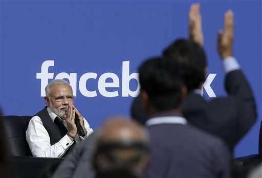 Modi touts social media, tech development in Facebook visit