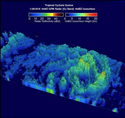 NASA gathers wind, rain, cloud data on major Tropical Cyclone Eunice