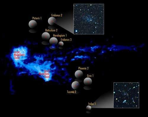 New dwarf galaxies discovered in orbit around the Milky Way