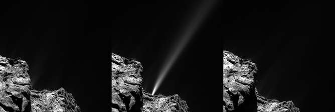 Night sky puts on a meteor shower to celebrate Rosetta's closest approach to the sun