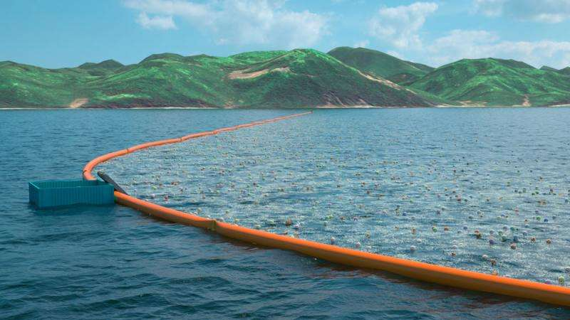 Ocean plastic cleanup team plan 2016 system launch
