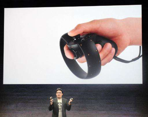 Oculus founder Palmer Luckey reveals a 'Touch' device the virtual reality firm is creating to let people reach into digital worl