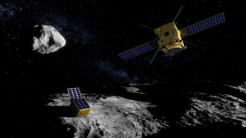 Robot arm simulates close approach of ESA's asteroid mission