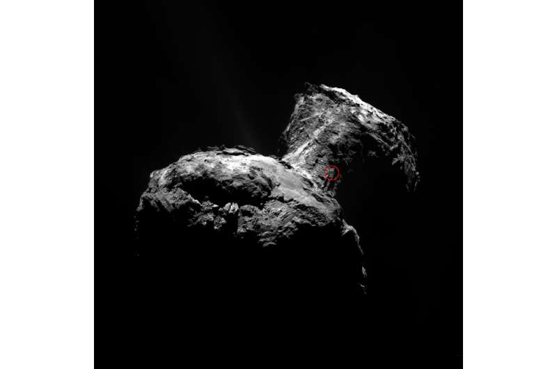 Rosetta scientists unveil the source of ice and dust jets on comet 67P
