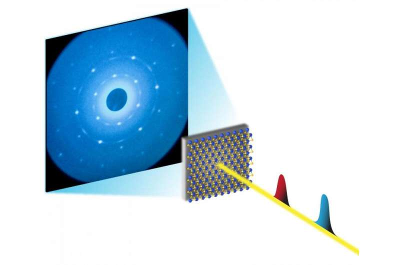 SLAC's ultrafast 'electron camera' visualizes ripples in 2-D material