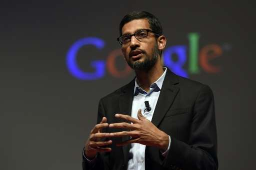 Sundar Pichai, pictured on March 2, 2015, will become CEO of the search unit Google under the new parent company Alphabet