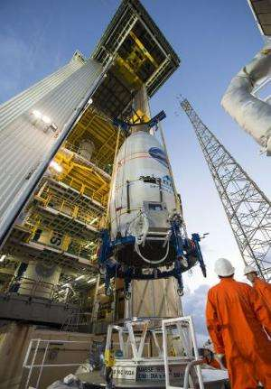 The European Space Agency's Intermediate eXperimental Vehicle is readied for launch in French Guiana on January 30, 2015