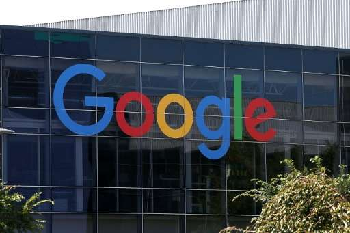 The new Google logo is displayed at the Google headquarters on September 2, 2015 in Mountain View, California