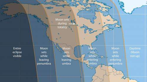 Total lunar eclipse before dawn on April 4th