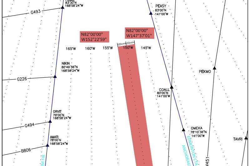 Warning Area in Arctic airspace to aid research and exploration