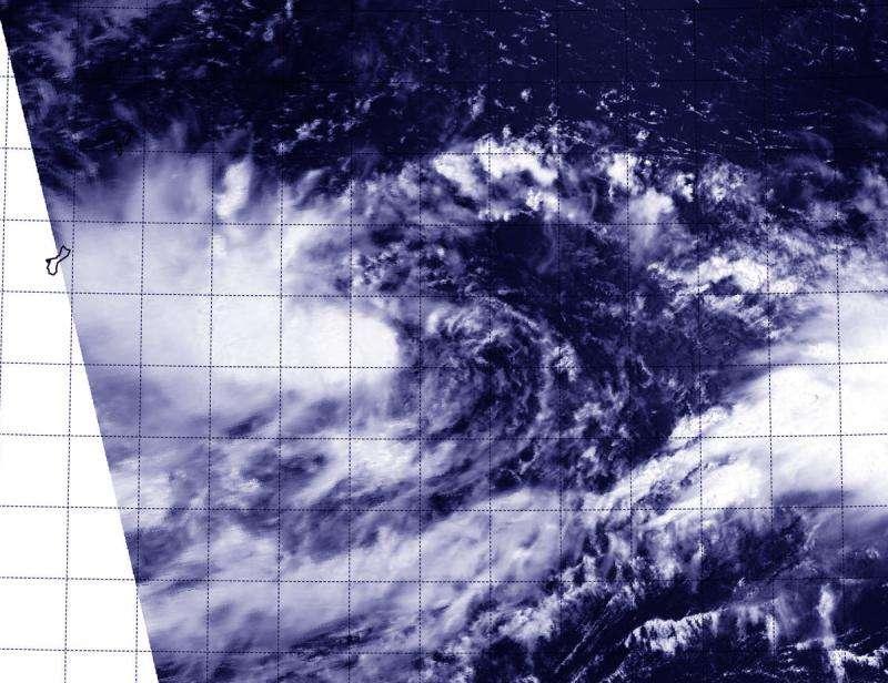 NASA's Aqua Satellite sees birth of Tropical Depression 16W