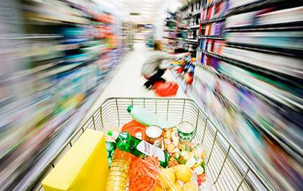 Research shows that shopping while hungry makes people buy more than just food