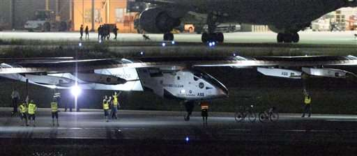 Solar Impulse plane lands in Japan to wait out bad weather