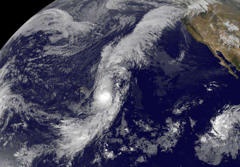 Satellite sees the long arms of Hurricane Oho