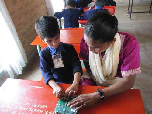 Carnegie Mellon's automated braille writing tutor wins Touch of Genius prize