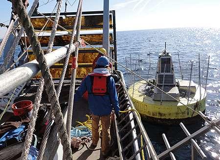 Experimental wave-power buoy survives winter in Monterey Bay
