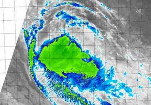 NASA's Aqua satellite sees demise of Tropical Cyclone Ola