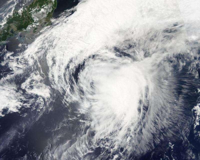 NASA sees Extra-Tropical Storm Dolphin moving toward Sea of Okhotsk