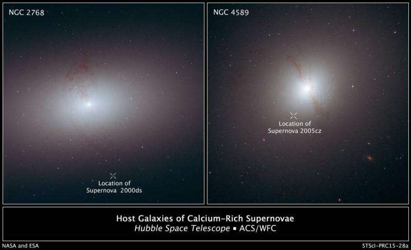 NASA's Hubble finds supernovae in 'wrong place at wrong time'