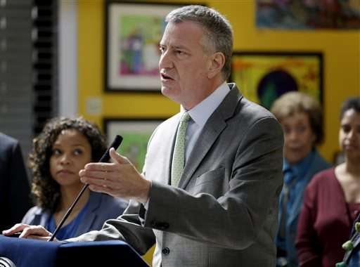 NYC mayor unveils sweeping environmental plan on Earth Day