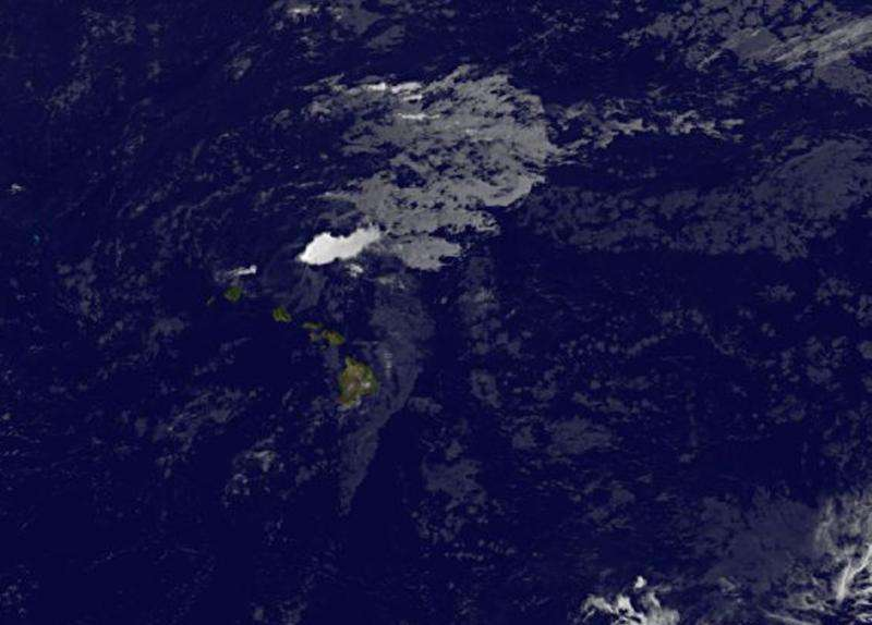 Satellite data shows wind shear socking Guillermo near Hawaii