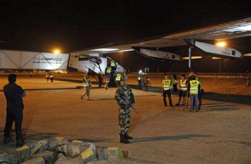 Solar plane leaves India for next stop in Myanmar