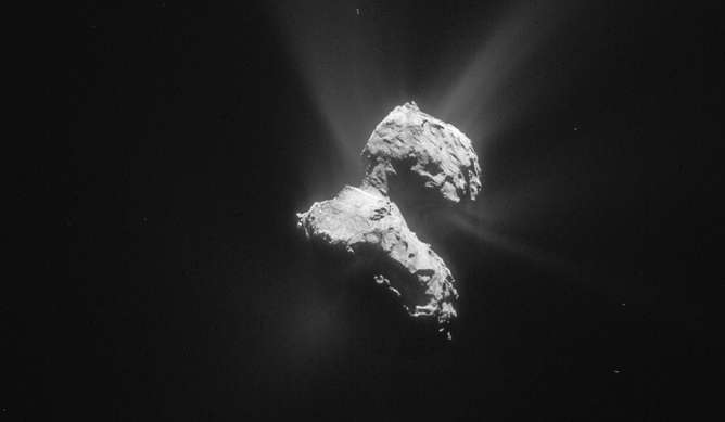 There's no evidence to suggest there is life on Comet 67P