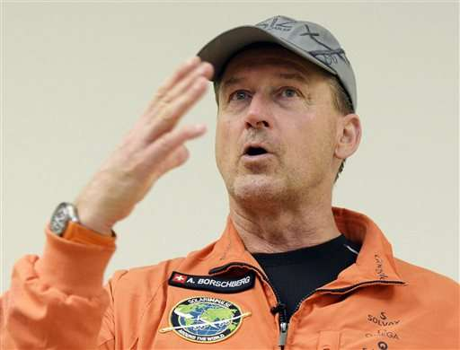 Solar Impulse waits out weather before take-off for Hawaii