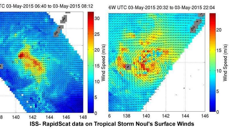 NASA sees tropical storm noul strengthening, organizing