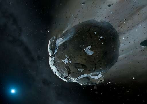 Illustration of a water-rich asteroid - a new US law legalizes the extraction of minerals and other materials, including water,