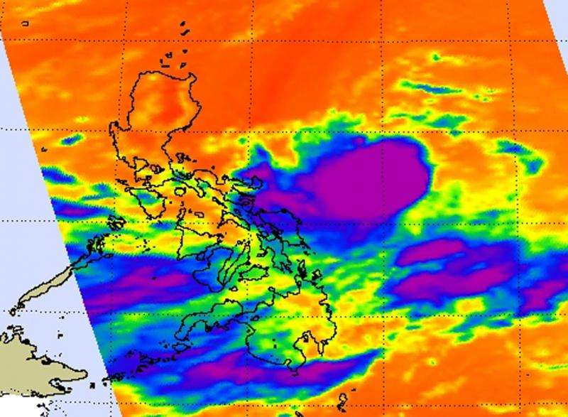 NASA looks at Tropical Depression 10W's most powerful storms