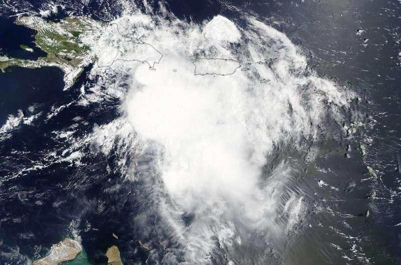 NASA, NOAA satellites show Erika affecting Hispaniola