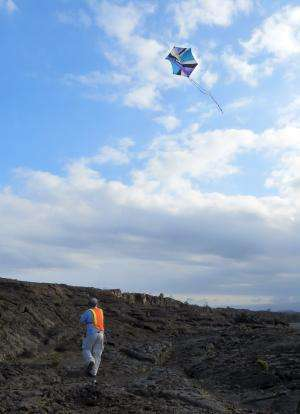 Scientists fly kites on Earth to study Mars