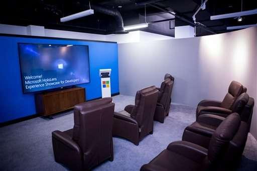 Microsoft opens NY studio to showcase HoloLens headset