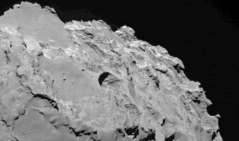 Rosetta spacecraft sees sinkholes on comet