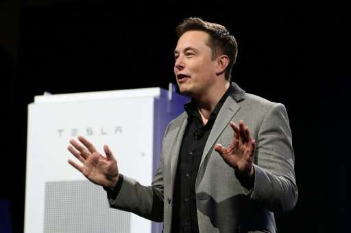 "Tesla Motors CEO Elon Musk, pictured on April 30, 2015, has promised a cheaper ""Model 3"", costing around $35,000 in tw"