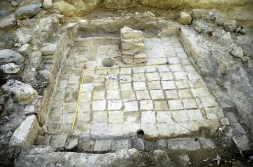 A photo released by the Greek Ministry of Culture on August 25, 2015 shows an excavations site near Sparta in the Peloponnese re