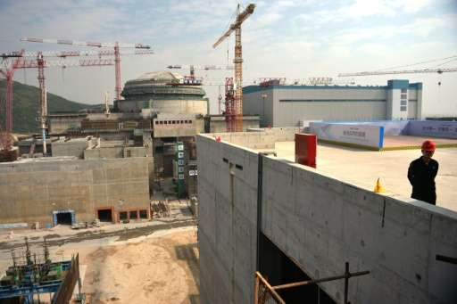 Construction under way on the Taishan Nuclear Power Station outside Taishan City in Guandong province on December 8, 2013