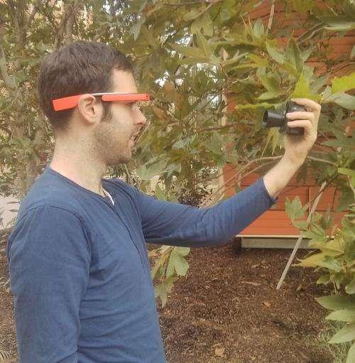 Google Glass app noninvasively analyzes plant health