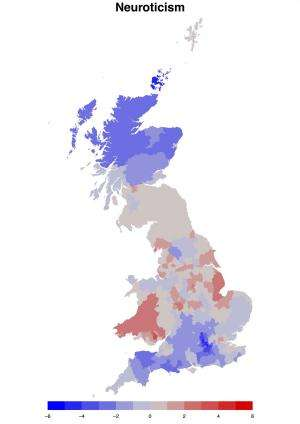 Personality test finds Britain's most extroverted, agreeable and emotionally stable regions