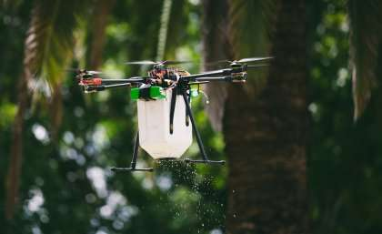 Drone used to drop beneficial bugs on corn crop