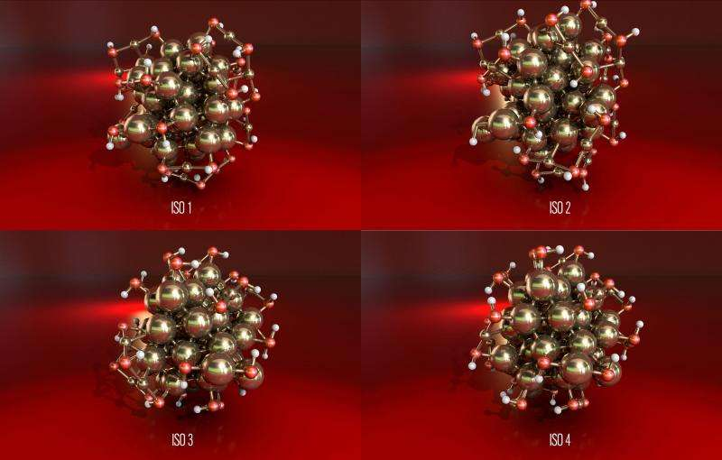 Research team models new atomic structures of gold nanoparticle