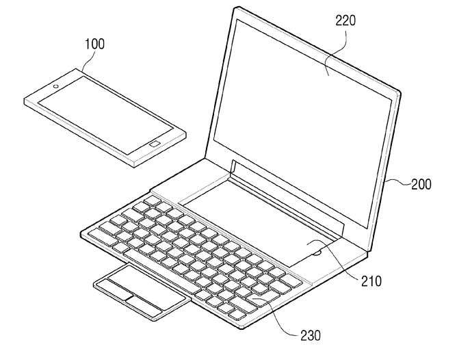Samsung details a dual-OS phone-docking hybrid device