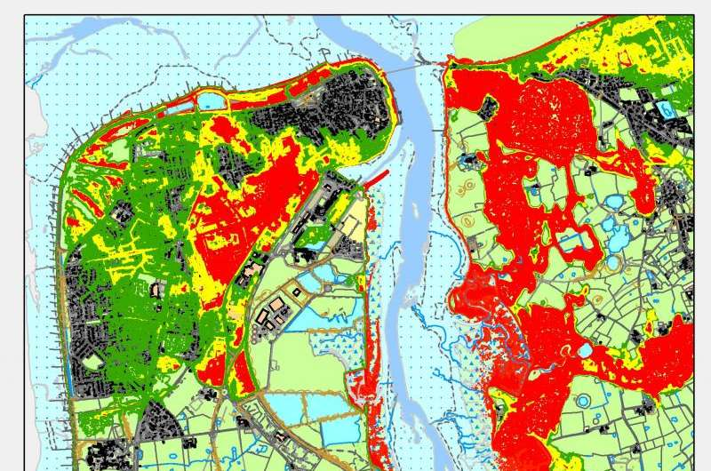 Estimating the cost of flooding for communities around estuaries