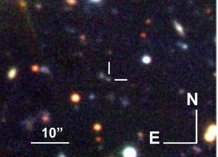 Shocks in a distant gamma-ray burst
